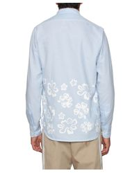 Saucony - Blue Cotton Shirt With Floral Print for Men - Lyst