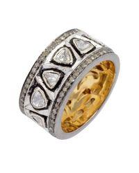 Amrapali - Metallic Trilliant Diamond Band Ring - Lyst