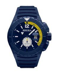 Brera Orologi | Blue 'acqua' Silicone Strap Diver Watch | Lyst