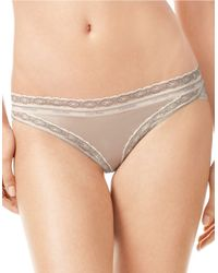 Calvin Klein | Brown Lace Trimmed Bikini Panties | Lyst