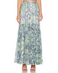 Marchesa Voyage - Green Pleated Maxi Skirt - Lyst