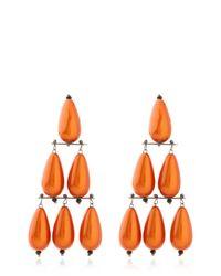 Lucia Odescalchi - Orange Appia Earrings - Lyst