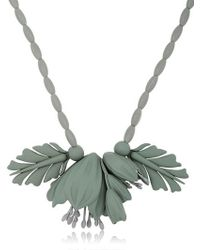 EK Thongprasert | Gray Flowers Silicone Necklace | Lyst