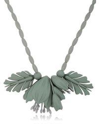 EK Thongprasert - Gray Flowers Silicone Necklace - Lyst
