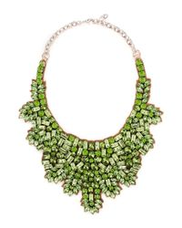 Valentino | Metallic Crystal And Silver-tone Necklace | Lyst
