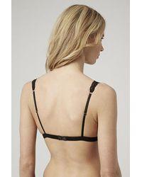 TOPSHOP | Black Wonderbra Refined Glamour Triangle Bra | Lyst