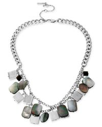 Kenneth Cole | Metallic Shell Double Row Necklace for Men | Lyst