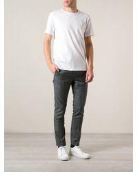 Acne Studios - White 'Measure-Face Badge' T-Shirt for Men - Lyst