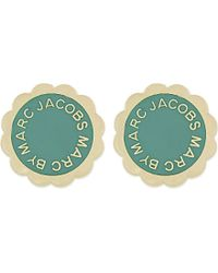 Marc By Marc Jacobs | Blue Enamel Disc Stud Earrings - For Women | Lyst