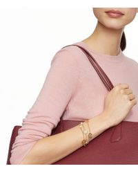 Tory Burch - Metallic Charm-and-pearl Triple-strand Bracelet - Lyst