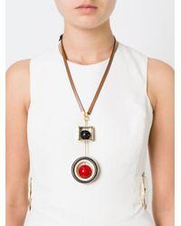 Marni   Black Geometric Pendant Necklace   Lyst