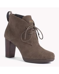 Tommy Hilfiger | Brown Suede Ankle Boot | Lyst
