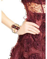 Oscar de la Renta | Black Diamond Large Octagon Stone Bracelet | Lyst