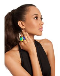 Trina Turk | Multicolor Resin Statement Ring | Lyst