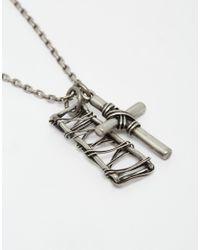 Seven London - Metallic Cross Necklace for Men - Lyst