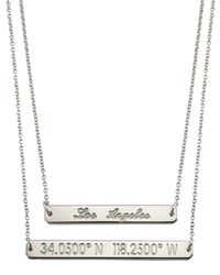 Coordinates Collection - Metallic 22k Gold-plated Fjord Pendant Necklace - Lyst
