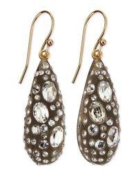 Alexis Bittar | Green Crystal Dusted Dewdrop Earrings | Lyst