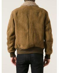 Saint Laurent | Brown Aviator Jacket for Men | Lyst