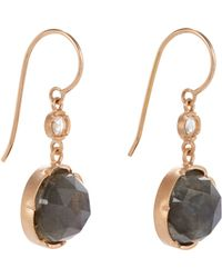 Irene Neuwirth - Pink Gemstone Double-drop Earrings - Lyst