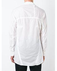 Boris Bidjan Saberi 11 - White Concealed Fastening Shirt for Men - Lyst