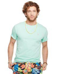 Polo Ralph Lauren - Green Jersey Crewneck T-Shirt for Men - Lyst