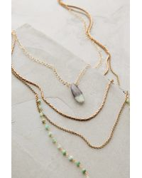 Anthropologie - Green Isequilla Layered Necklace - Lyst