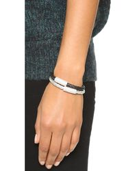 Liza Schwartz | The Black Bar Bracelet | Lyst