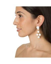 Bounkit | Metallic White Agate And Lemon Quartz Earrings | Lyst