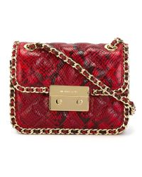 MICHAEL Michael Kors - Red 'carine' Shoulder Bag - Lyst