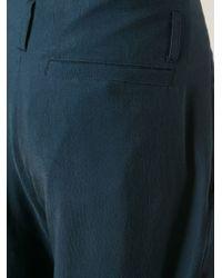 Giorgio Armani | Blue Drop Crotch Pleated Trousers for Men | Lyst