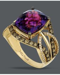Le Vian - Purple Amethyst (4-5/8 Ct. T.w.) And White And Chocolate Diamond (9/10 Ct. T.w.) Ring In 14k Gold - Lyst