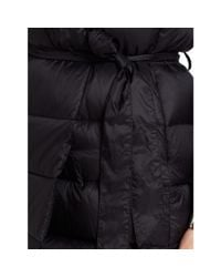 Ralph Lauren - Black Quilted Down Wrap Coat - Lyst