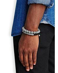 Nialaya - Black Stingray Bracelet for Men - Lyst