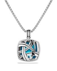 David Yurman | Metallic Albion Pendant With Blue Topaz | Lyst