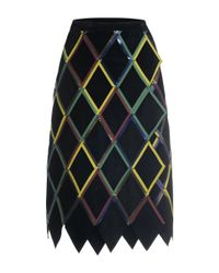 Marco De Vincenzo - Multicolor Diamond Pattern Nappa Leather Skirt - Lyst