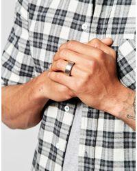 Emporio Armani - Metallic Industrial Ring for Men - Lyst