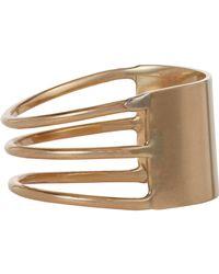 Loren Stewart - Metallic Gold Id Ring Size 7 - Lyst