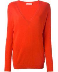 Nina Ricci - Orange V-neck Sweater - Lyst