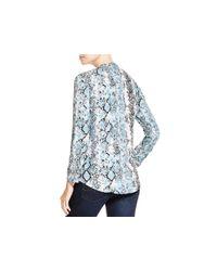 Soft Joie | Gray Dane Snakeskin Print Shirt | Lyst