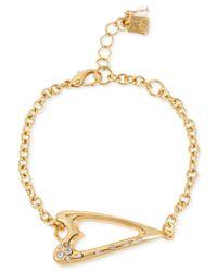 Robert Lee Morris - Metallic Gold-Tone Heart Bracelet - Lyst