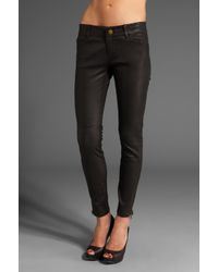 Current/Elliott - Black Leather Legging - Lyst
