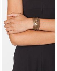 Valentino | Brown 'viva V' Bracelet | Lyst