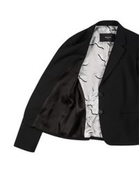 Paul Smith - Black Wool-Blend Blazer With 'Raffia' Panels - Lyst