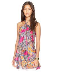 Lauren by Ralph Lauren - Multicolor Paisley-Print Halter Tunic Top - Lyst
