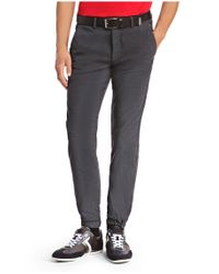 BOSS Green - Blue Slim-fit Trousers: 'luken-w' In Cotton Blend for Men - Lyst