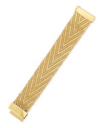 Givenchy | Metallic Golden Flat-chain Bracelet | Lyst