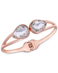 Tahari | Metallic T Rose Gold-tone Crystal Bangle Bracelet | Lyst