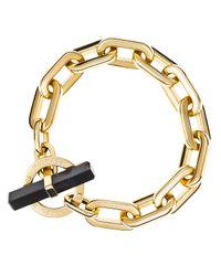 Michael Kors - Black City Link Toggle Bracelet - Lyst