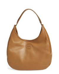 Tory Burch - Brown 'marion' Hobo - Lyst