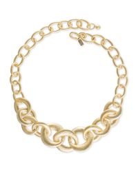 Kenneth Jay Lane | Metallic Gold Link Chain Necklace | Lyst